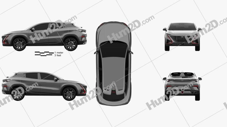 Changan Uni-t 2020 car clipart