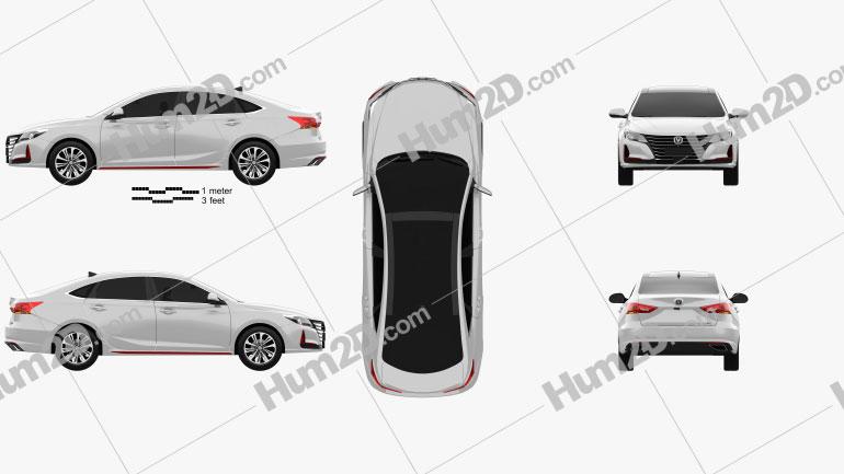 Changan Raeton CC 2021 car clipart