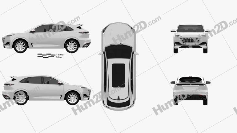 Changan Uni-K 2021 car clipart