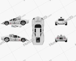 Chaparral 2D Race Car 1966 car clipart