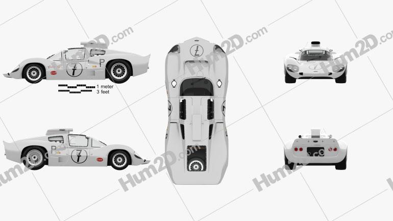 Chaparral 2D Race Car with HQ interior 1966 car clipart