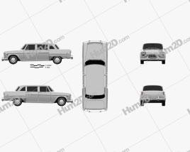Checker Marathon (A12) 1968 car clipart