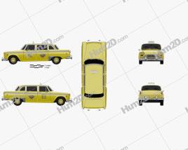 Checker Marathon (A12) Taxi 1978 car clipart
