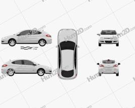 Chery A3 (J3) Hatchback 5-door 2012 Clipart