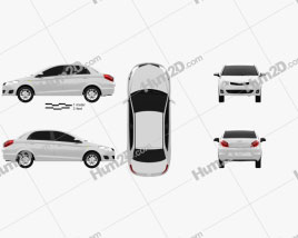 Chery A13 (Fulwin 2) liftback 2012 car clipart