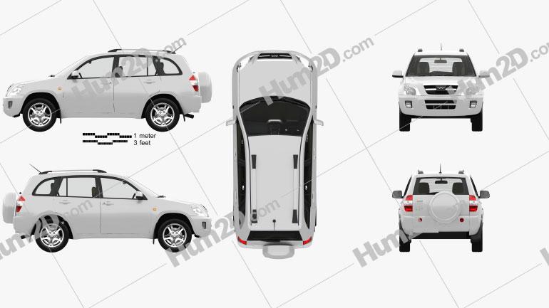 Chery Tiggo (J11) with HQ interior 2013 car clipart