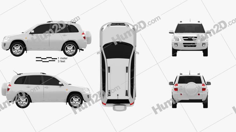 Chery Tiggo (J11) 2010 car clipart