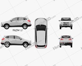 Chery Tiggo 5 2014 car clipart