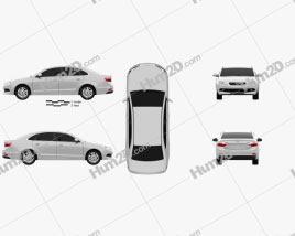 Chery Arrizo 7 2013 car clipart