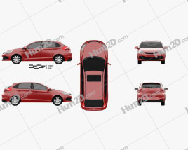 Chery A13 (Fulwin 2) Mk2 hatchback 2012 car clipart