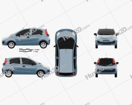 Chery QQ 2013 car clipart