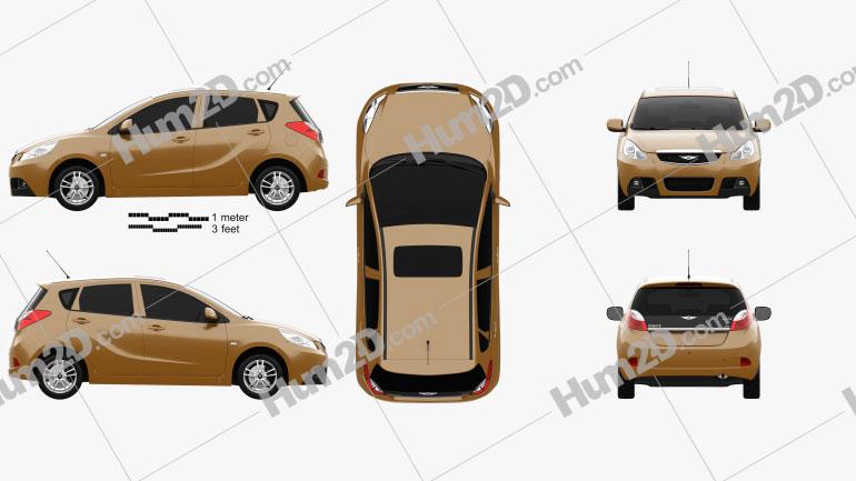 Chery Riich G2 2012 car clipart