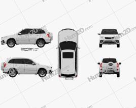 Chery Tiggo 3 2018 car clipart