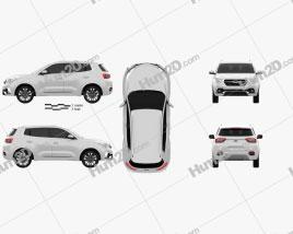 Chery Tiggo 5X 2017 car clipart
