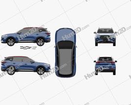 Chery Tiggo 7 2020 car clipart