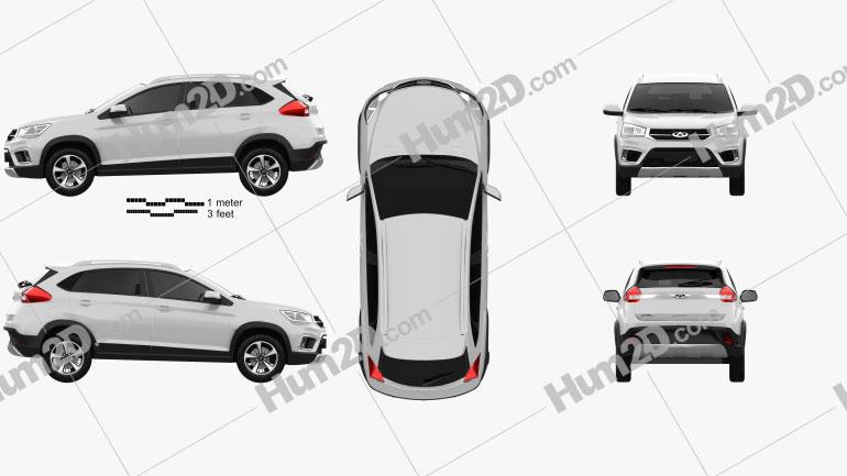 Chery Tiggo 3x 2016 car clipart