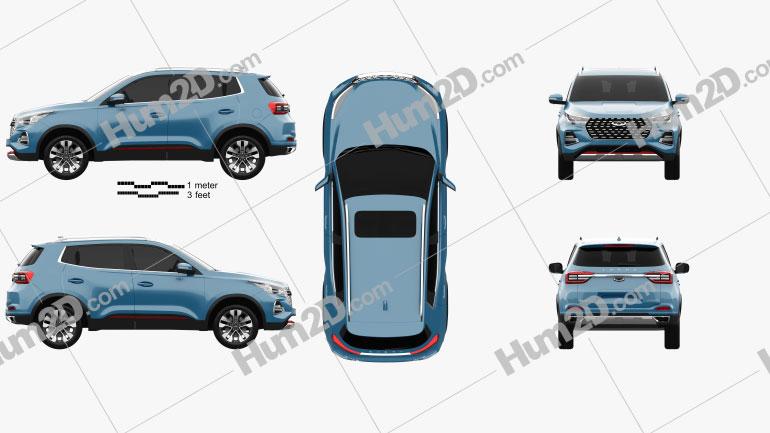 Chery Tiggo 5X 2021 car clipart