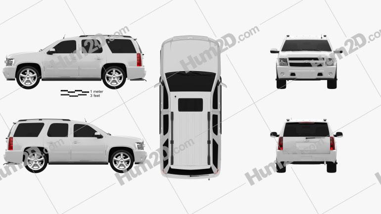 Chevrolet Tahoe 2010 car clipart