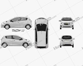 Chevrolet Spark (Beat) 2010 Clipart