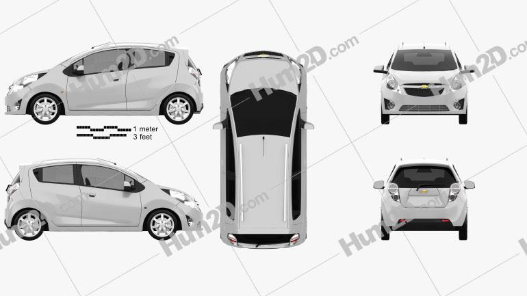 Chevrolet Spark (Beat) 2010 car clipart