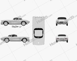 Chevrolet Corvette 1962 car clipart
