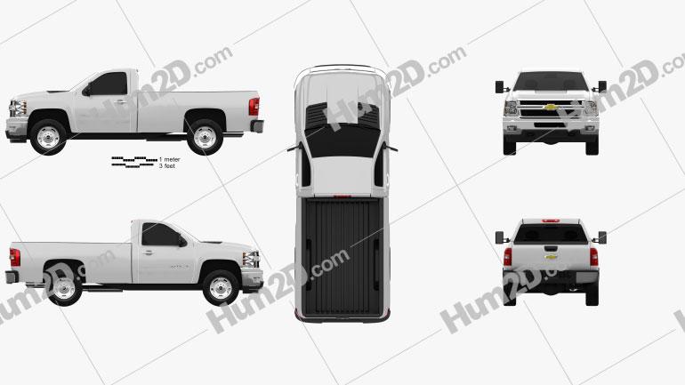 Chevrolet Silverado HD Regular Cab Long Bed 2011 car clipart