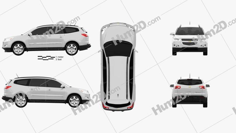 Chevrolet Traverse 2011 Clipart Bild