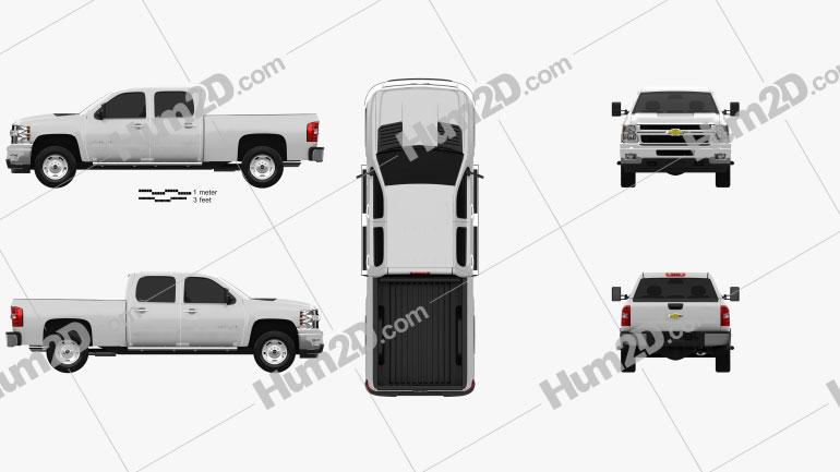 Chevrolet Silverado Crew Cab Standard Bed car clipart