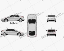 Chevrolet Volt 2011 car clipart