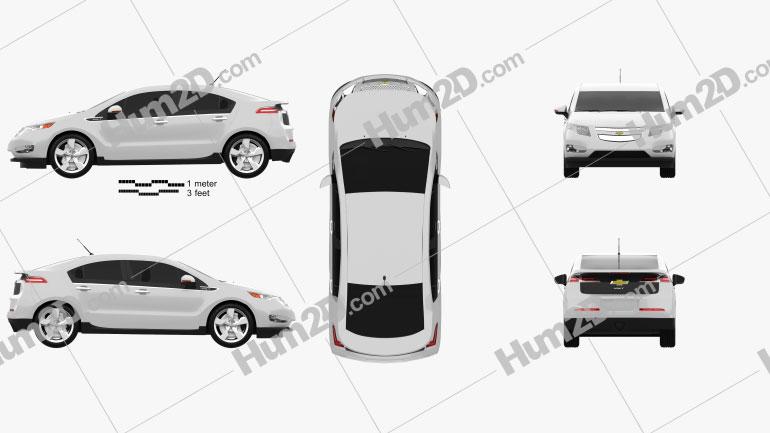 Chevrolet Volt 2011 Clipart Image