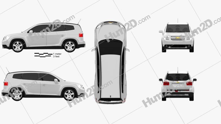 Chevrolet Orlando 2011 Clipart Image