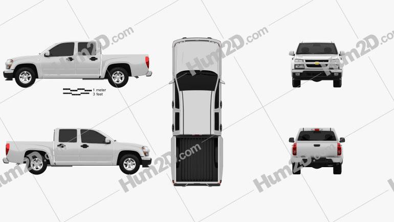 Chevrolet Colorado Crew Cab 2012 car clipart