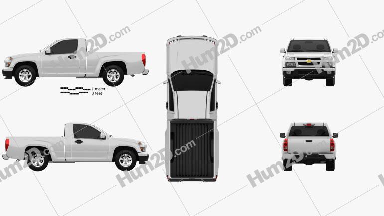 Chevrolet Colorado Regular Cab 2012 car clipart