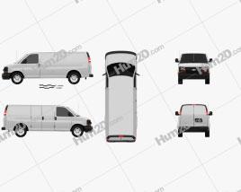 Chevrolet Express Panel Van 2003 clipart