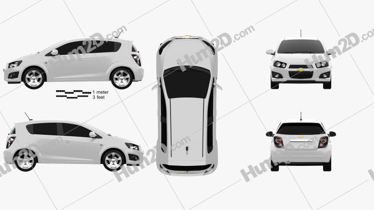 Chevrolet Aveo 5 door 2011 Clipart Image