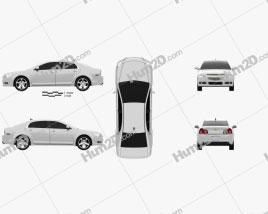 Chevrolet Malibu 2012 car clipart