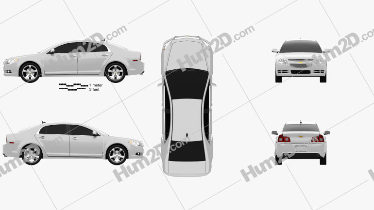 Chevrolet Malibu 2012 Clipart Image