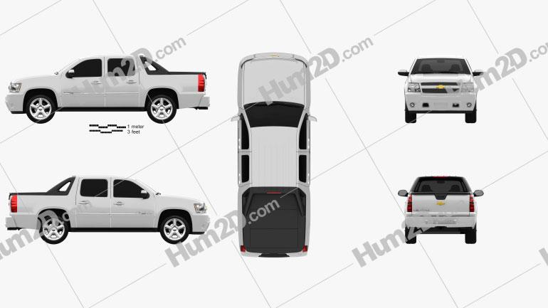 Chevrolet Avalanche 2011 car clipart