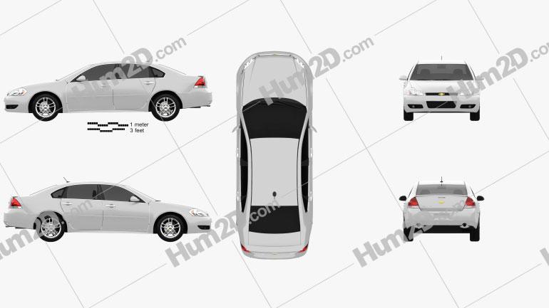 Chevrolet Impala 2012 Clipart Image