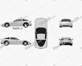 Chevrolet Corvette (C6) 2011 car clipart