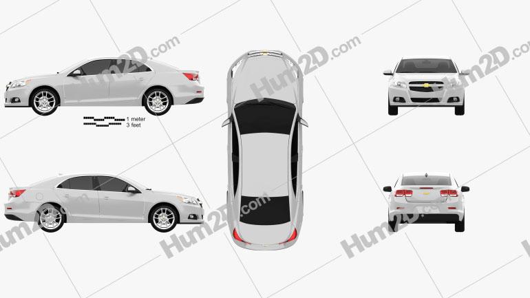 Chevrolet Malibu ECO 2013 car clipart