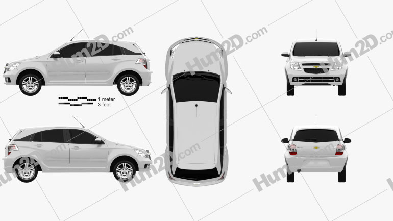 Chevrolet Agile 2011 car clipart