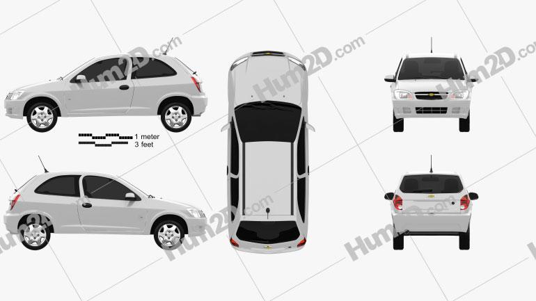 Chevrolet Celta 3-door hatchback 2011 car clipart