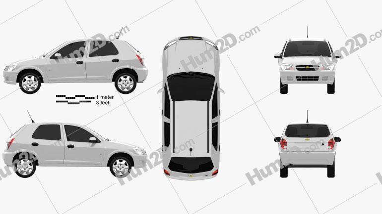 Chevrolet Celta 5-door hatchback 2011 car clipart