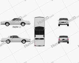 Chevrolet Monte Carlo SS 1986 car clipart