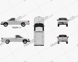Chevrolet S10 Single Cab Long Bed 1994 car clipart