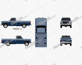 Chevrolet C/K Scottsdale Einzelkabine Standart Bed 1979 car clipart