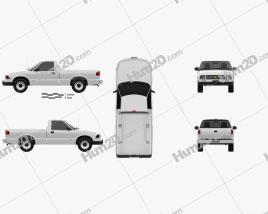 Chevrolet S10 Einzelkabine Standart Bed 1994 car clipart