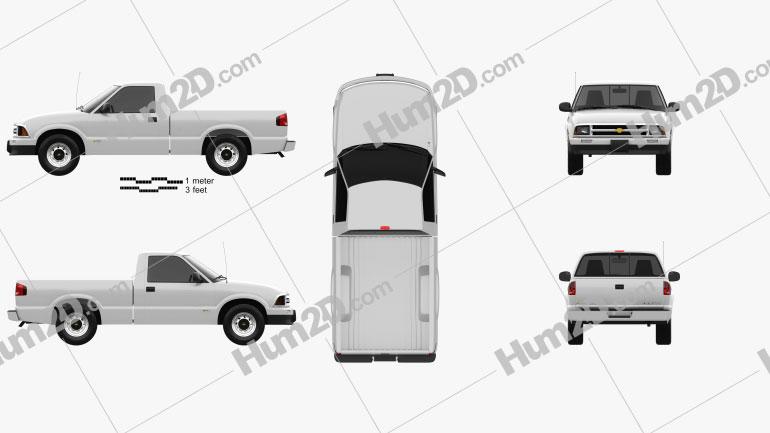 Chevrolet S10 Single Cab Standart Bed 1994 car clipart