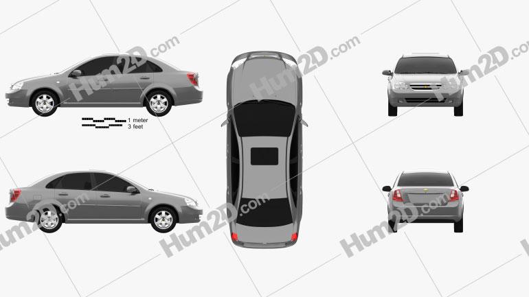 Chevrolet Lacetti Sedan 2011 Clipart Image